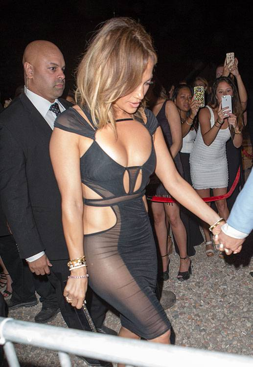 Jennifer Lopez celebrates her birthday at 1OAK in the hamptons with French Montana and Casper Smart wearing a tight see-through dress. Pictured: Jennifer Lopez Ref: SPL1086182  260715   Picture by: @PapCultureNYC / Splash News Splash News and Pictures Los Angeles:310-821-2666 New York:212-619-2666 London:870-934-2666 photodesk@splashnews.com
